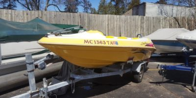 1999 Sea Ray 16′ Sea Rayder F-16 XR Jet Boat