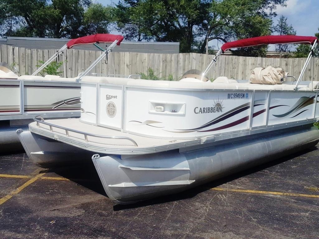 2004 Crest 22 Caribbean Pontoon Boat